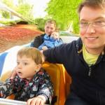 Wir hatten unseren Spaß. Hier in der großen Wildwasserbahn.