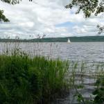 Papa macht eine Vatertagsradtour um den Ratzeburger See.