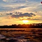 Sonnenuntergang beim Joggen.