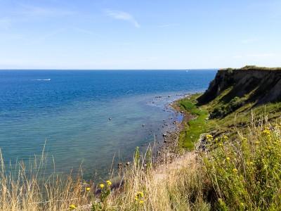 Auch die Meckpommer Seite hat Steilküsten zu bieten.