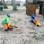 Holzspielplatz geht auch in kalt.