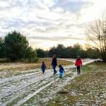 Spaziergang über Schneereste