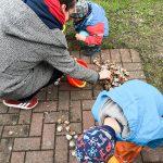 Mit Tante Linny werden Schnecken gesammelt, ...