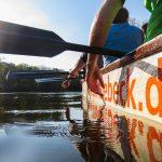 Pause beim Drachenboottraining
