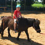 Auch Liam lässt sich das Ponyreiten natürlich nicht nehmen.